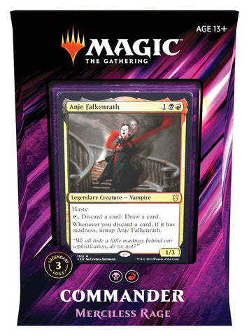 Magic The Gathering: Commander 2019: Merciless Rage *PRE ORDER*