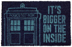 Doctor Who: Bigger On The Inside Door Mat | Card Merchant NZ