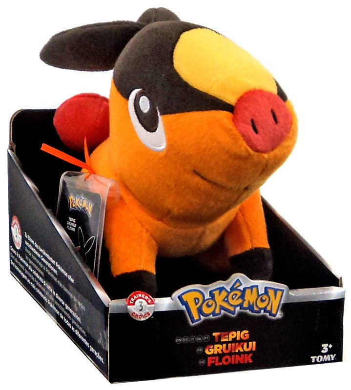 Tepig 20cm Plush - Tomy Trainers Choice