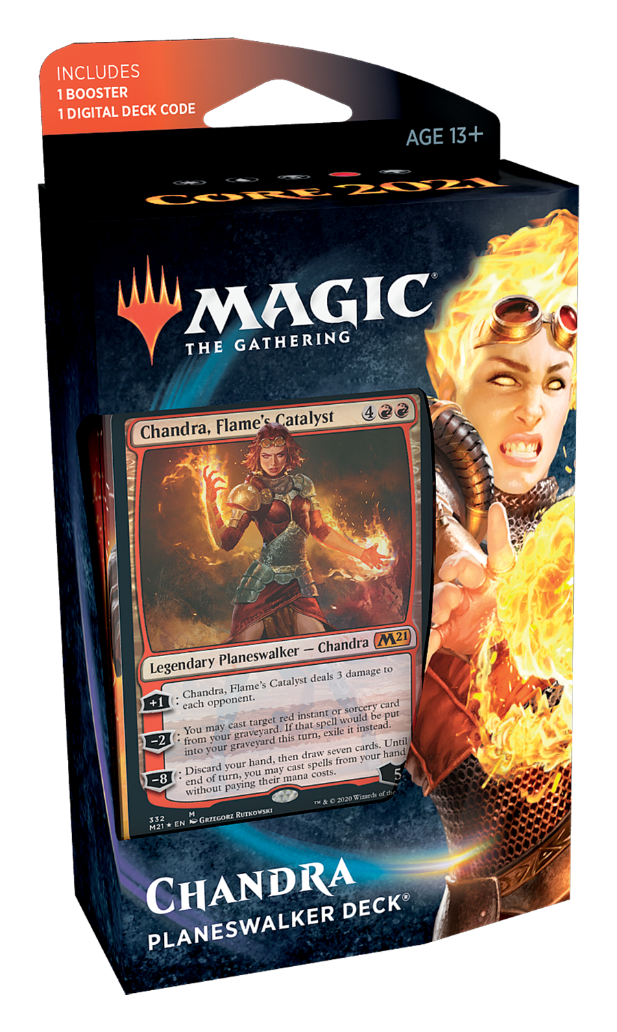 **PRE ORDER** Core Set 2021 Planeswalker deck - Red - Release Date: July 27 , 2020 | Card Merchant NZ