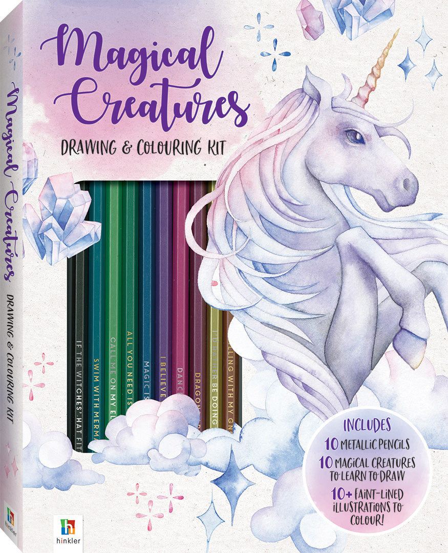 Magical Creatures Drawing & Colouring Kit | Card Merchant NZ