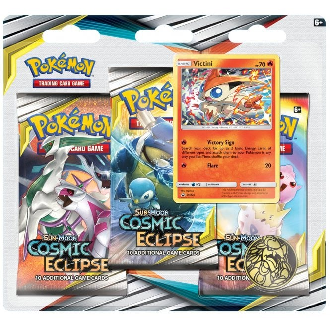Cosmic Eclipse 3-Pack Blister - Victini | Card Merchant NZ