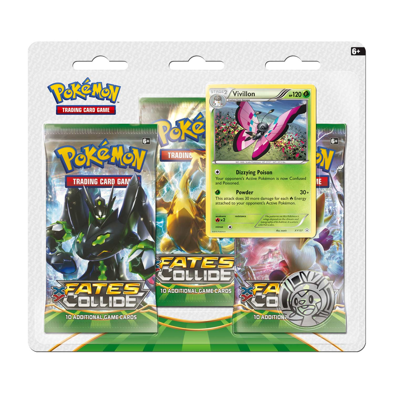 Fates Collide 3-Pack Blister - Vivillion | Card Merchant NZ