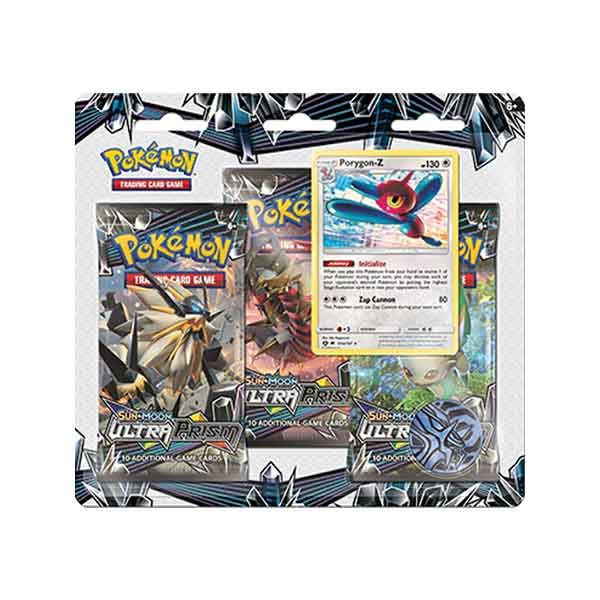 Ultra Prism 3-Pack Blister - Porygon | Card Merchant NZ
