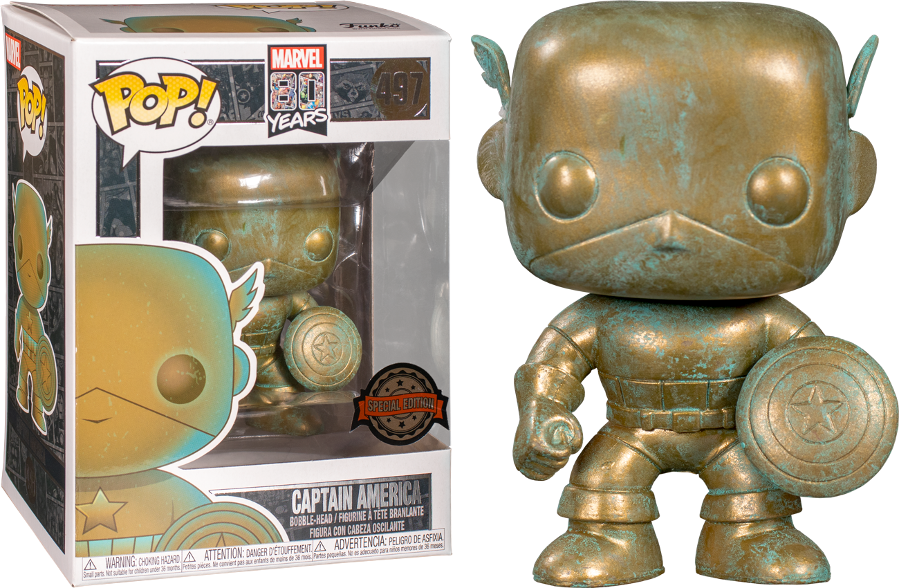 Marvel 80th Anniversary - Captain America Pop! 497 | Card Merchant NZ