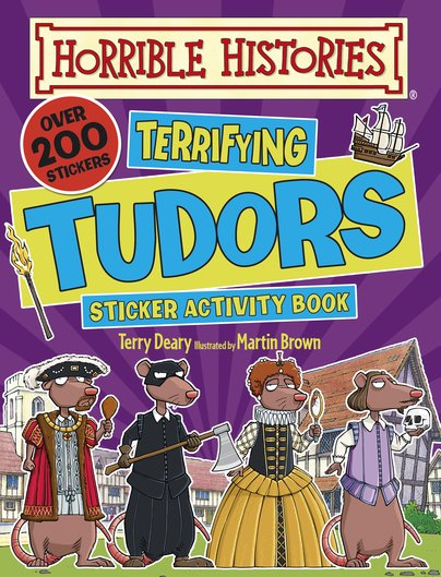 Horrible Histories - Terrifying Tudors Sticker Activity Book | Card Merchant NZ