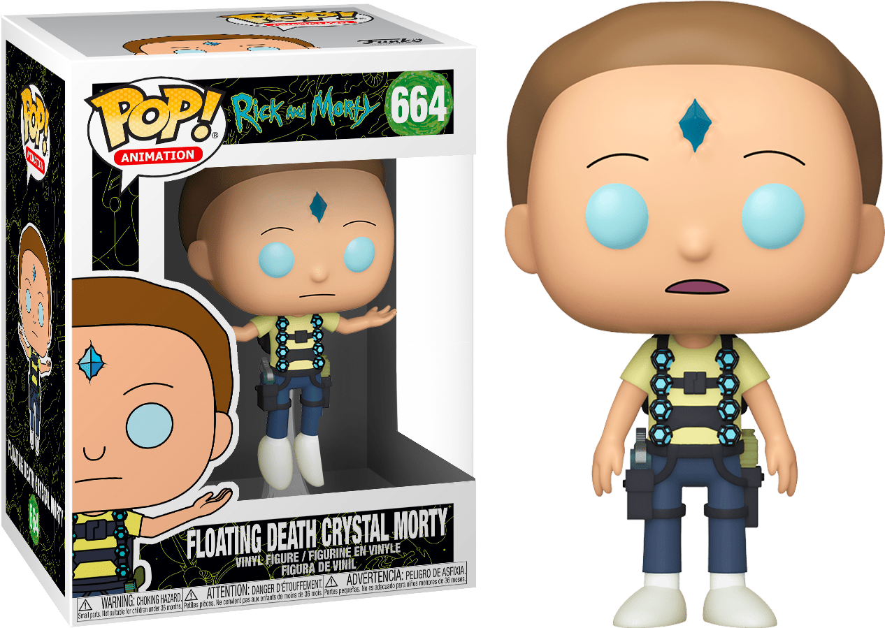 Rick & Morty - Floating Death Crystal Morty Pop! 664 | Card Merchant NZ