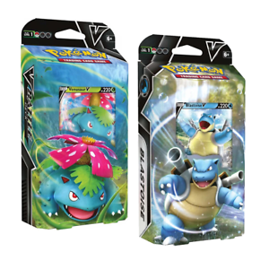 Pokemon TCG: Venusaur V & Blastoise V Battle Deck
