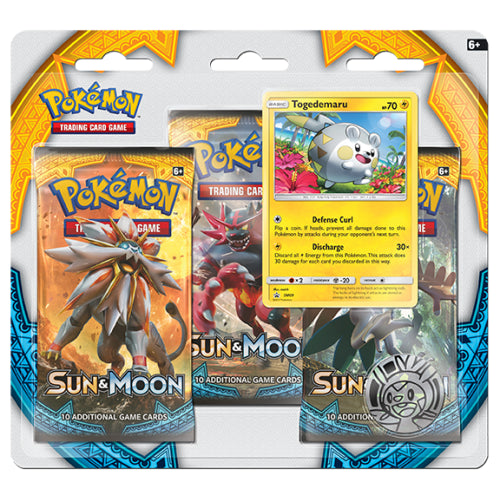 Sun and Moon 3-Pack Blister - Togedemaru