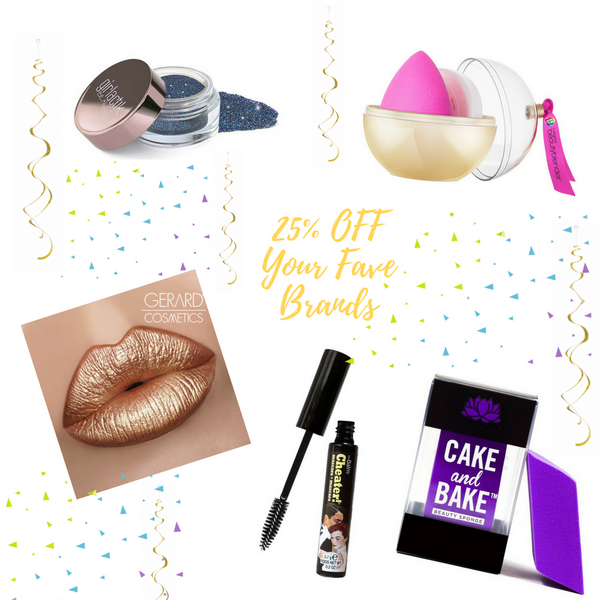 Black Friday Deals - 25% OFF Gerard Cosmetics, Girlactick, theBalm Cosmetics, Beauty by Earth, beautyblender