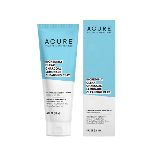 Acure Incredibly Clear Charcoal Lemonade Cleansing Clay