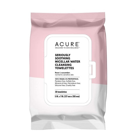 ACURE Seriously Soothing Micellar Water Towelettes, 30 Count