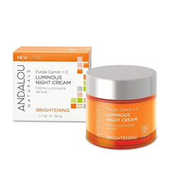 Andalou Naturals Purple Carrot + C Luminous Night Cream 1.7 Oz - Andalou Naturals