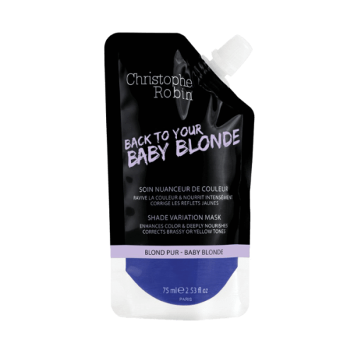 Christophe Robin Shade Variation Care Nutritive Mask with Temporary Coloring (Baby Blond) Mini