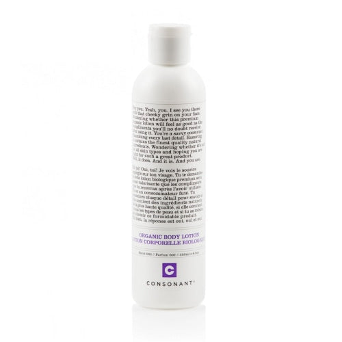 Consonant Skincare Organic Body Lotion (Scent 002: Peppermint & White Sage) - Count On Us