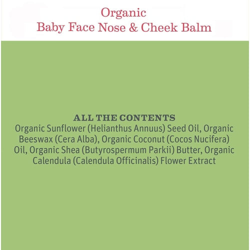 Earth Mama Organics Baby Face Nose and Cheek Balm - Earth Mama