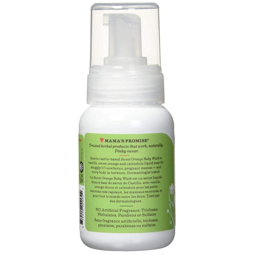 Earth Mama Organics Baby Sweet Orange Wash - Earth Mama