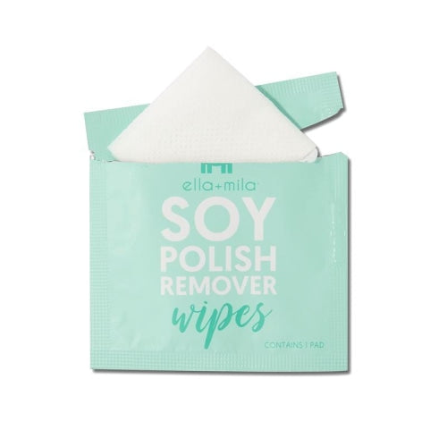 ella+mila Soy Nail Polish Remover Wipes (Unscented) - 10 Pack - Count On Us