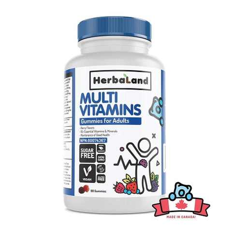 HerbaLand Multivitamin Sugar-Free Vegan Gummy Vitamin for Adults