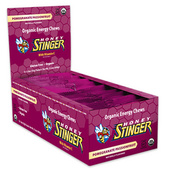 Honey Stinger Energy Chew - Pomegranate Passion Fruit - Pack 12 - Count On Us