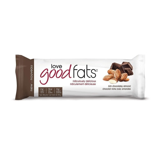 Love Good Fats Rich Chocolatey Almond Snack Bar-Pack 6