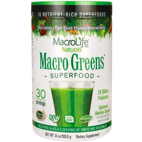 MacroLife Naturals Macro Greens Superfood 10oz - Count On Us