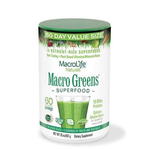 MacroLife Naturals Macro Greens Superfood 20oz