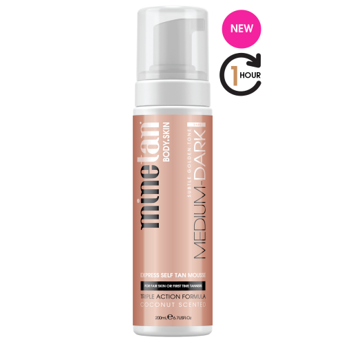 MineTan Medium Dark Self Tan Mousse - Count On Us