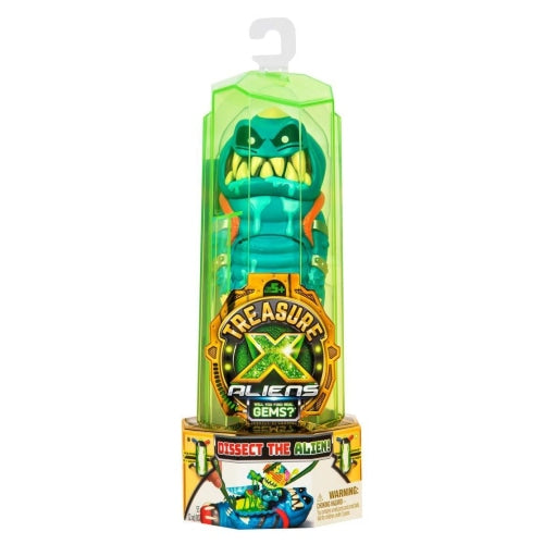 Moose Toys Treasure X Aliens - Yellow, Green or Blue