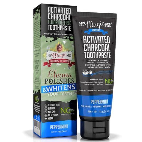 My Magic Mud Activated Charcoal Toothpaste for Whitening- Peppermint