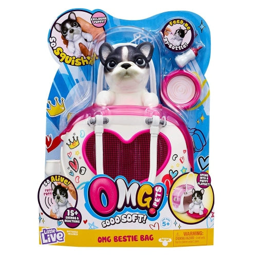 OMG Pets Soft Squishy Puppy That Comes to Life - Interactive Soft Puppy & Playset