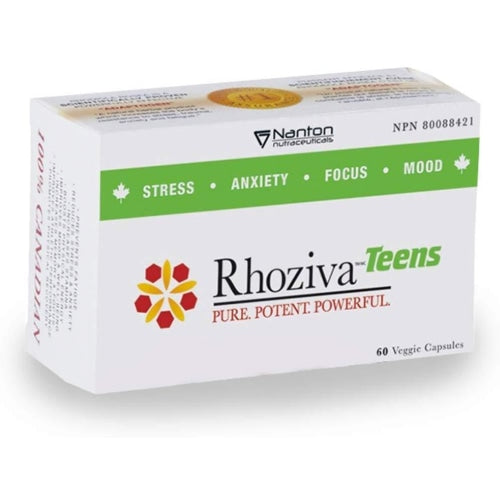 Rhoziva Teens Rhodiola Rosea Supplement - 80mg