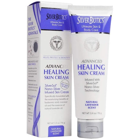 Silver Biotics Antimicrobial Skin Cream Lavender