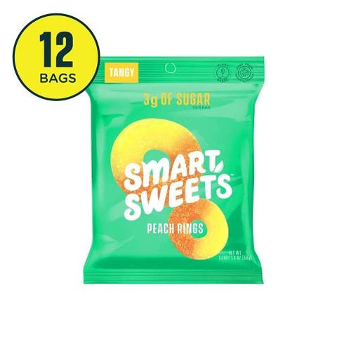 SmartSweets Peach Rings Low Sugar-Pack of 6