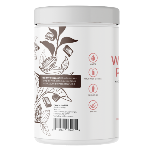 Teami Blends Organic Plant-Based Wellness Protein (Rich Chocolate) - Count On Us