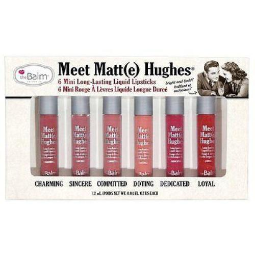 theBalm Cosmetics Meet Matte Hughes (6 Mini Long-Lasting Liquid Lipsticks) - The Balm Cosmetics