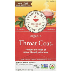 Traditional Medicinals Organic Throat Coat - Count On Us