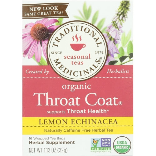 Traditional Medicinals Throat Coat Lemon Echinacea - Count On Us