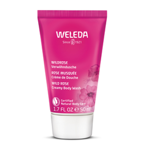 Weleda Wild Rose Creamy Body Wash Travel Size