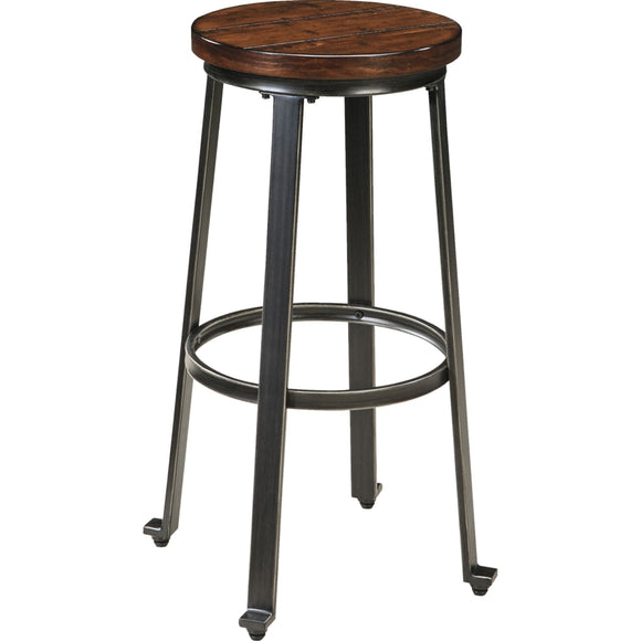 Challiman  Bar Stool - Rustic Brown - (D307-130)