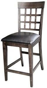 Bristol Point Pair of Grid Back Stool