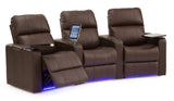 Elite 3 Piece Home Theater Seating Power Reclining w/LED & Tables