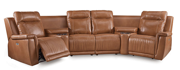 Riley Power Reclining 6 Piece Sectional w/Power Headrest