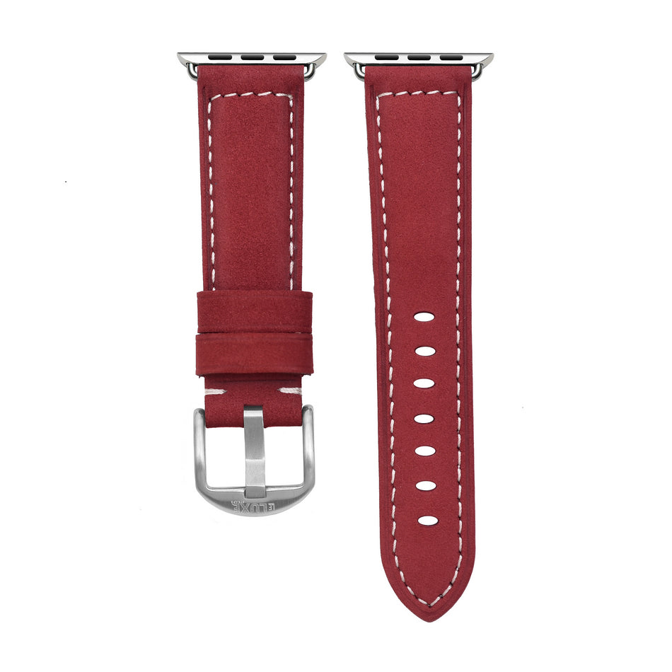 Wine Leather Apple Watch Strap
