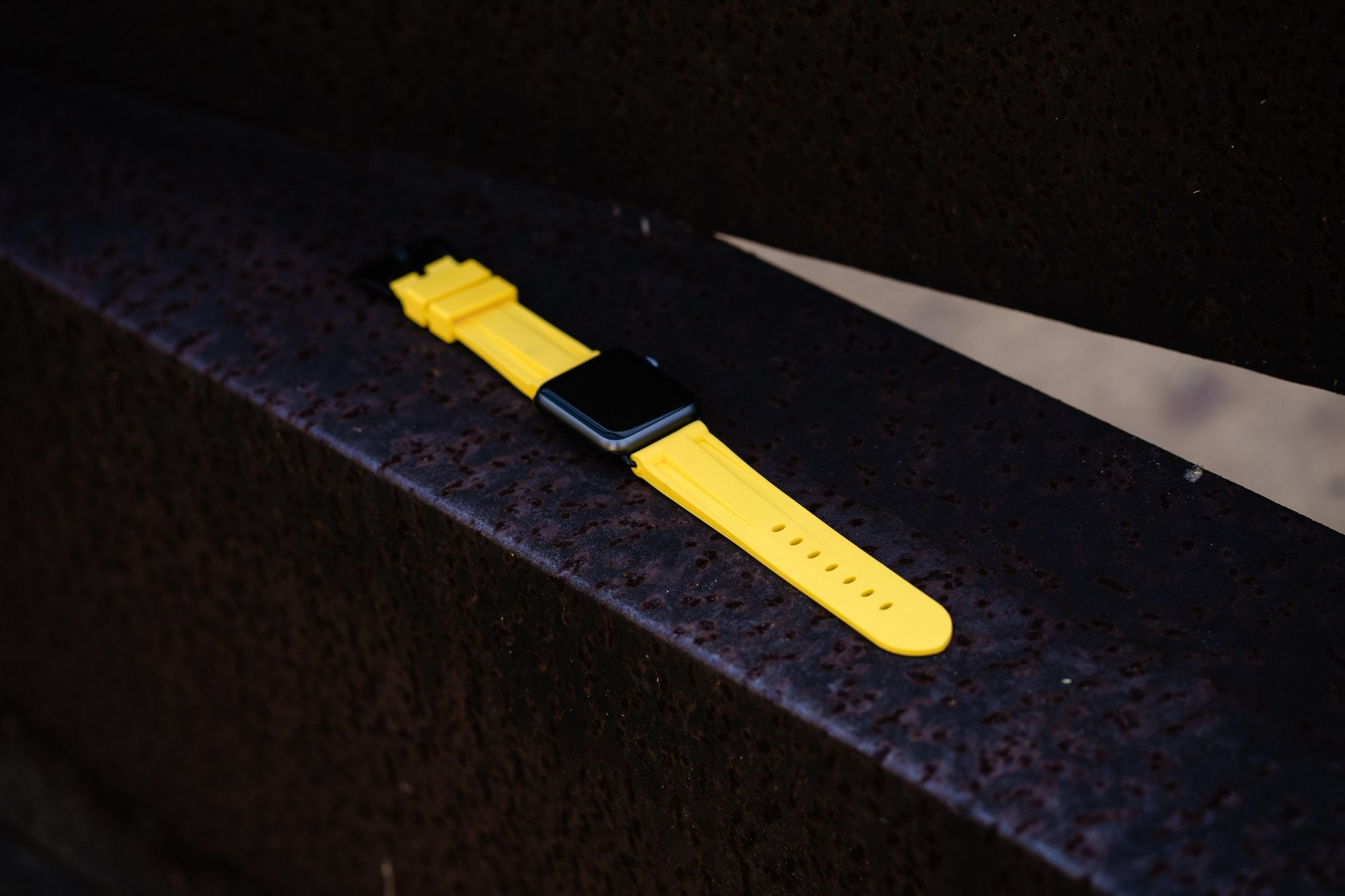 Yellow Rubber Apple Watch Strap