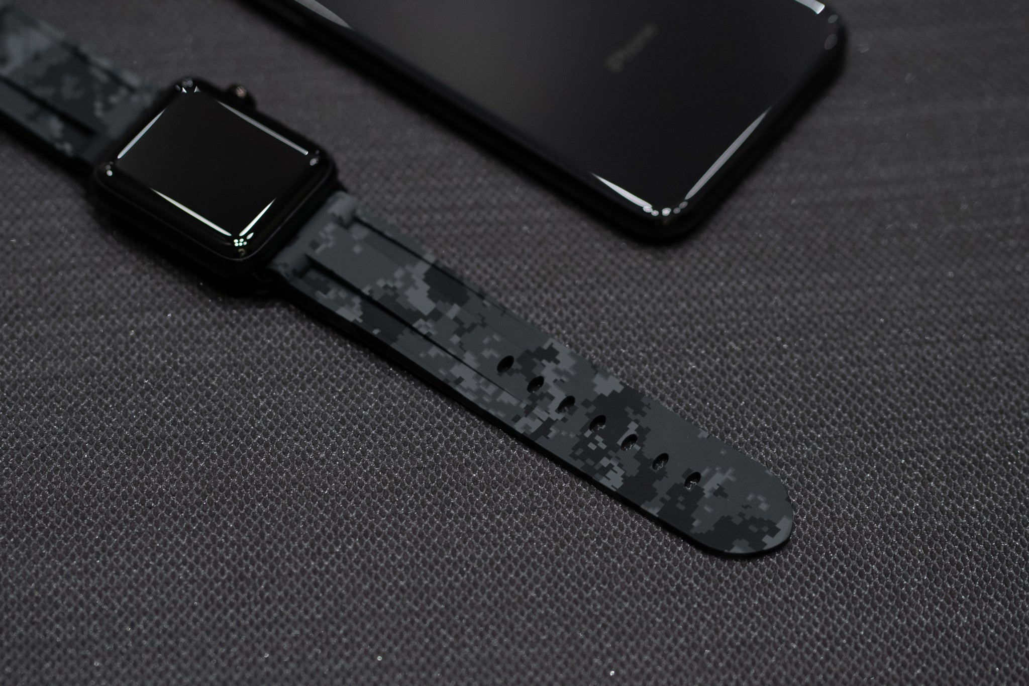 Digital Grey Camo Apple Watch Strap