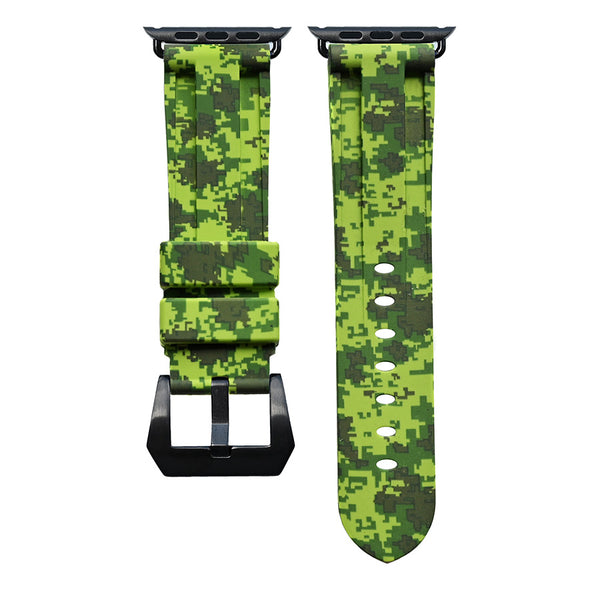 Electric Digital Green Camo Apple Watch Strap