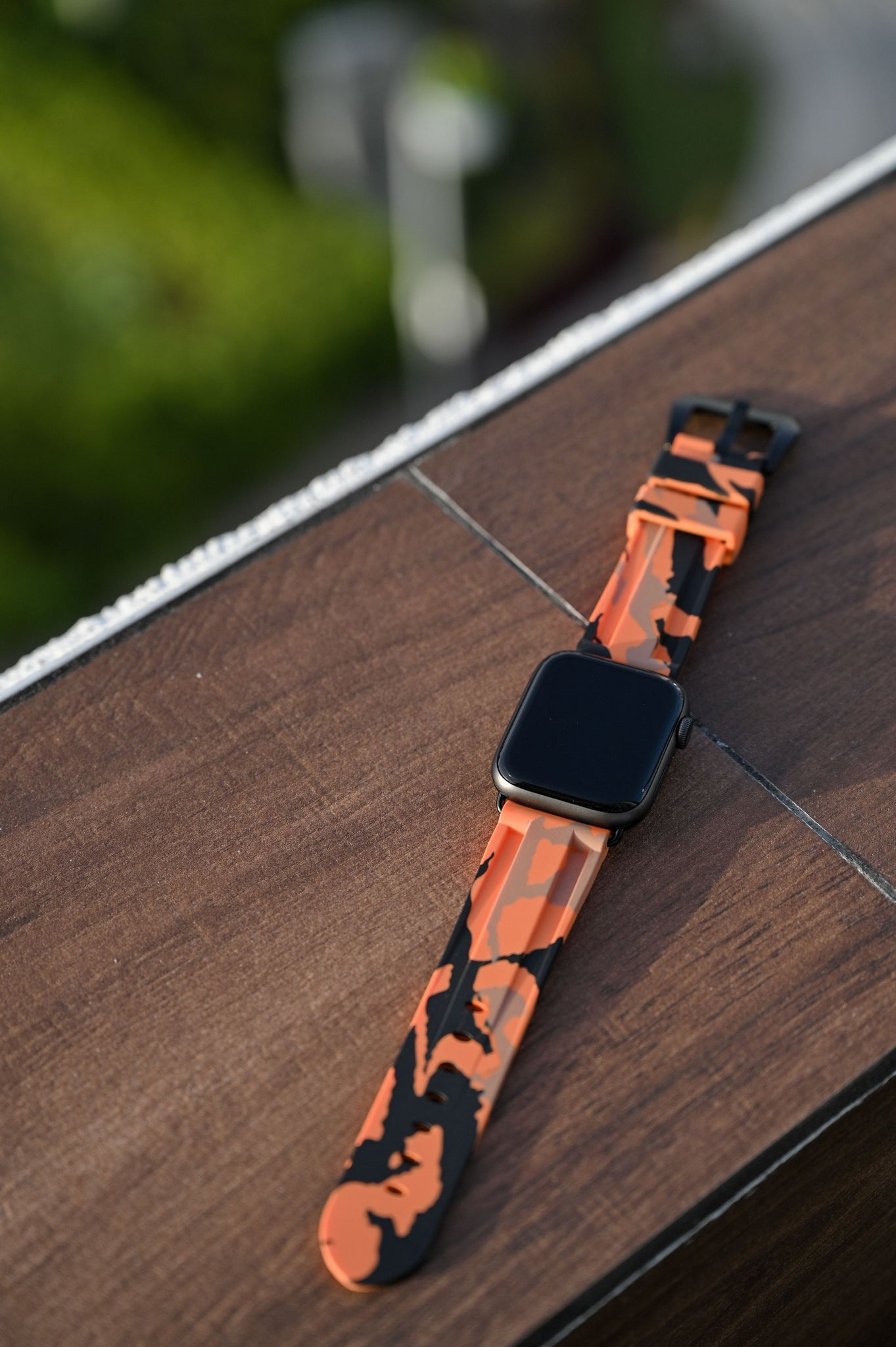 Orange Camo Apple Watch Strap