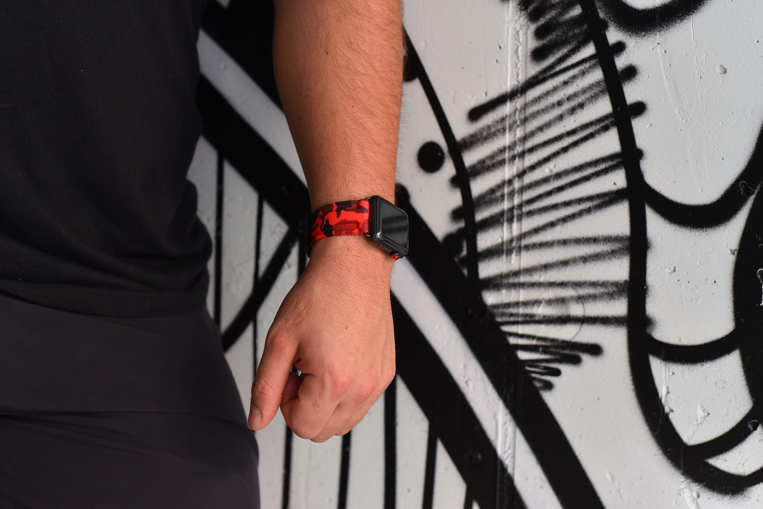 Solar Red Camo Apple Watch Strap