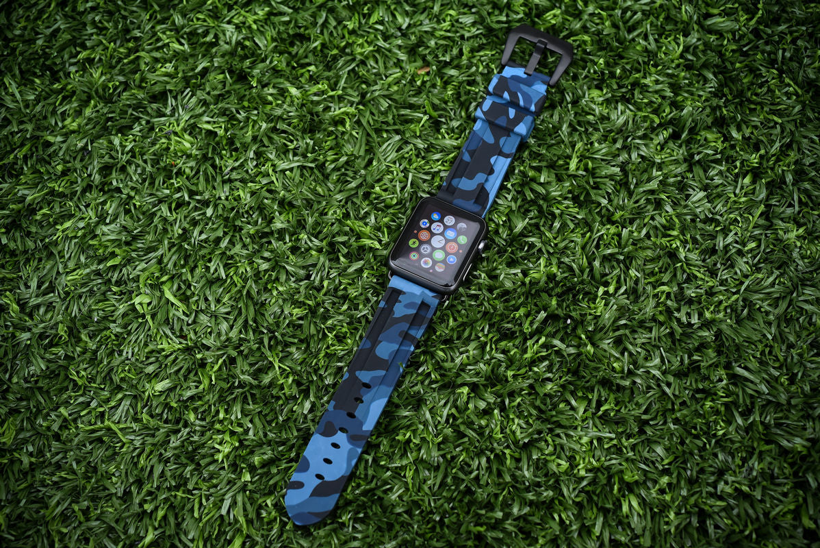 Navy Camo Apple Watch Strap